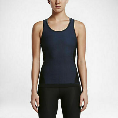 11e6e137cad464 New NIKE Zoned Sculpt Women's Size M Compression Training Tank Top Black /  Navy
