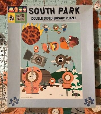South Park Jigsaw Puzzle 1000 Piece Collectable 1999 Comedy Central Double Sided