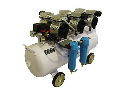 3HP, 18 Gallon, Oil Free & Noiseless Dental Air Compressor w/ 2 stage dryer