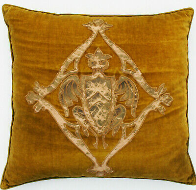 Antique 19th c. Silk Velvet Embroidered Pillow