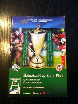 Leicester Tigers v Stade Toulousain Rugby Programme Heineken Cup Semi Final 2005