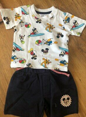 260b3a64b PRIMARK BABY BOYS Disney Mickey Mouse Top And Shorts Set Bnwt All ...