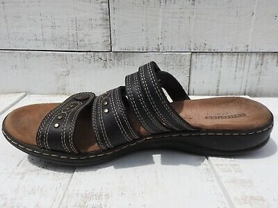 cd7852c19174 Clarks Collections Leisa Lakia Black Triple Strap Womens Sandals Size 10