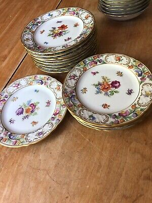 Schumann  Dresden Flowers Empress  Set of 12 Dessert Plates