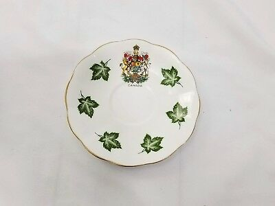 Elizabethan Canada Emblem Maple Leaf Fine Bone China Saucer England 14