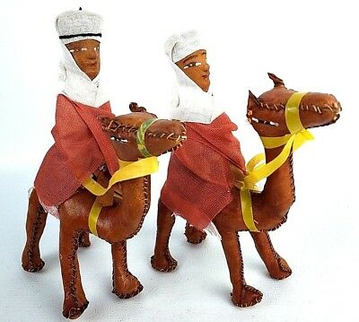 2 Leather Camels With Riders