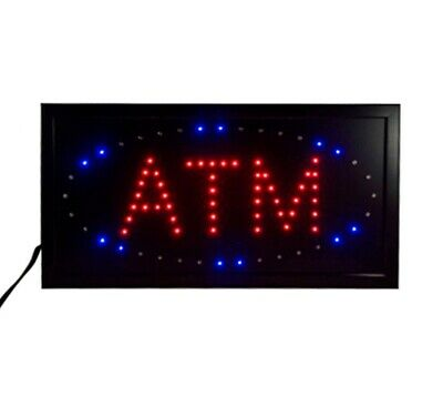 LED ATM Sign Flashing ATM Sign Animated ATM Light Box Window Sign ATM Machine