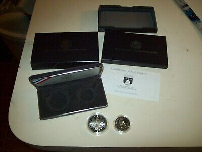 1989 Congressional Coins Proof Set 90% Silver Dollar & Clad 1/2 Dollar Complete