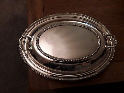 Antique silver plated Walker and Hall serving dish/tureen c1900.