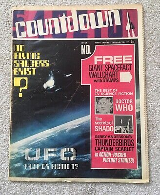 Countdown Comic Number 1 - First Issue, 20/02/1971, Thunderbirds,scarlet,dr.who
