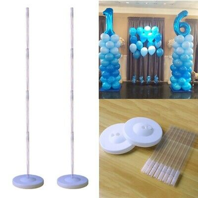 Plastic Balloon Arch Column Stand with Base Kits Wedding Birthday Party Decor