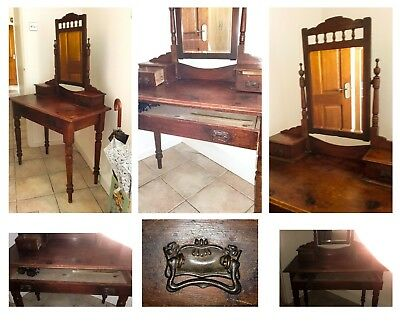 Rare Antique Welsh Victorian Dressing Table