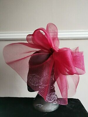 dark deep red burgundy crin fascinator headband headpiece wedding race ascot
