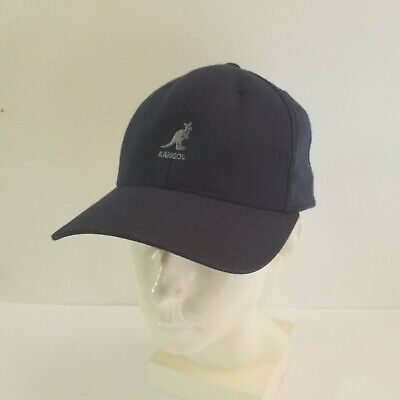 c27a028a Navy Blue Kangol Wool Flex Fit Baseball Cap S M PreOwned Great Condition