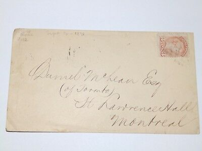 (A423) 1871 CANADA QUEEN VICTORIA COVER TO MONTREAL WITH 3c STAMP