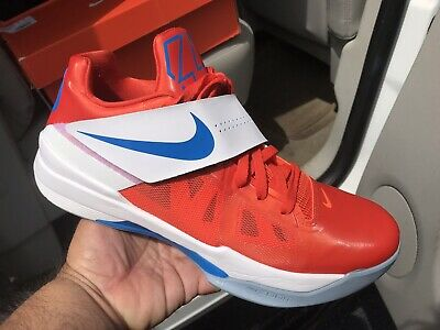 classic fit 7ef37 6cef2 Nike Zoom KD IV 4 Creamsicle Orange Blue White Size 11
