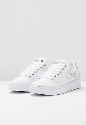 detailed look 5816e 5232c GUESS P/E 19 sneakers donna basse ecopelle pizzo fiori applicati BESSIA