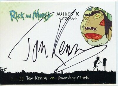 2018 Cryptozoic Rick and Morty Autograph Card TOM KENNY as Pawnshop Clerk 39/50