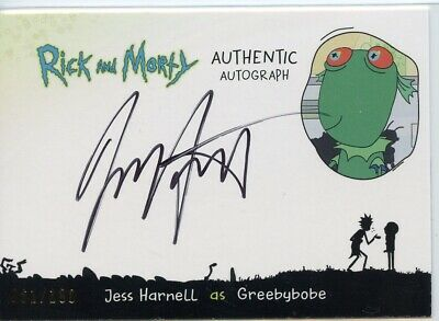 2018 Cryptozoic Rick and Morty Autograph Card JESS HARNELL as Greebybobe
