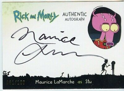 2018 Cryptozoic Rick and Morty Autograph Card MAURICE LAMARCHE as STU