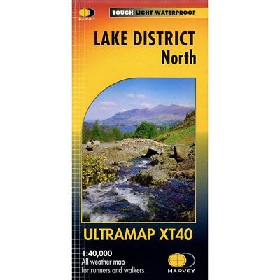 Lake District North Ultramap by Harvey Map Services Ltd (Sheet map, folded, 2016