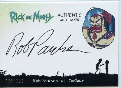 2018 Cryptozoic Rick and Morty Autograph Card - ROB PAULSEN as CENTAUR 033/100