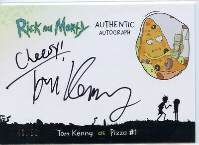 2018 Cryptozoic Rick and Morty Autograph Card - TOM KENNY as PIZZA #1 INSCRIBED