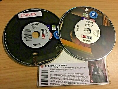 Sherlock - Series 3 - Complete (DVD, 2014, 2-Disc Set) DISC ONLY