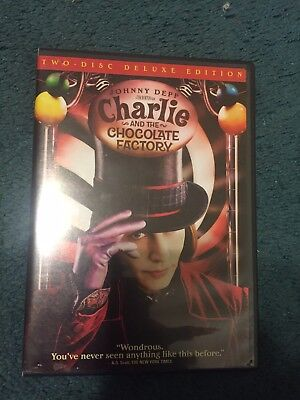 Charlie and the Chocolate Factory (DVD, 2005, 2-Disc Set, Widescreen Deluxe)