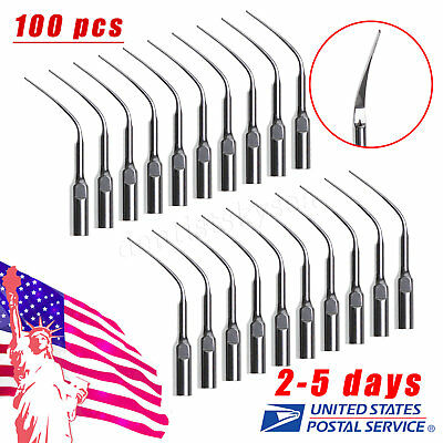 100X Dental Perio Scaling Tips PD3 for DTE SATELEC Ultrasonic Scaler USA USPS**