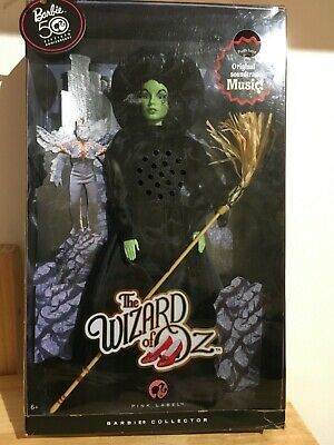 Wizard of Oz Wicked Witch of the West Barbie Collector Pink Label 50 Anniversary