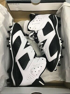7a1bb23b50a2 Nike Air Jordan VI 6 Retro TD Oreo Football Cleats 645419-110 Men s Size 8