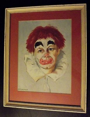 'Clown with Red Hair' Painting by Nancy McWhirter, Oil on Canvas