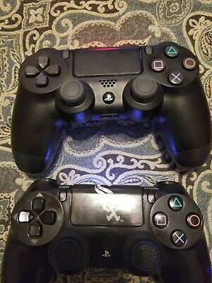 2 Sony DualShock 4 Wireless Controller PlayStation 4 - Jet Black + Random games