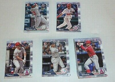 2019 Bowman 100 Card Set Paper Trout Acuna Judge Soto Ohtani Betts Vets Rookies
