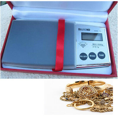 Scales Precision Digital LCD Mini Weight Case 0.1 500 Grams Weighs Home 800