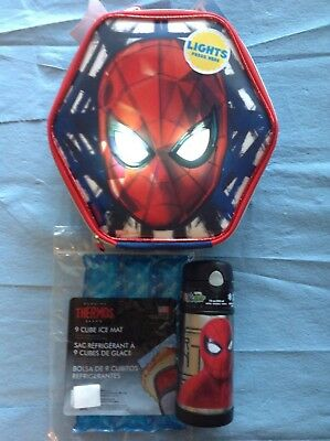 Thermos Spiderman Homecoming Light Up Eyes Insulated School Lunch Kit Combo Set