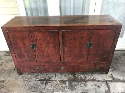 Antique Chinese Manchurian Style Cabinet