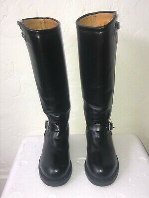 9806d2a743c CHIPPEWA MEN'S STEEL Toe 71418 USA-Made Black Leather Motorcycle Boots Sz 7D