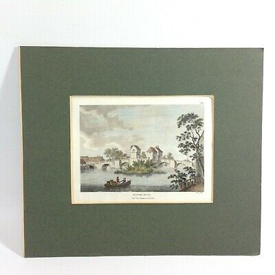 Antique Hand Coloured Etching 1783