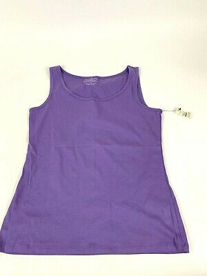 494628207128b Talbots Womens Purple Signature Stretch Weekend Tank Top MP Cotton Blend