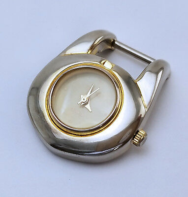 Women's Little Purse Quartz Watch 26mm Ivory MOP Dial Silver With Gold Hints JPN