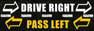3x9 inch Drive Right Pass Left Bumper Sticker (car Idiots Safety Driving)