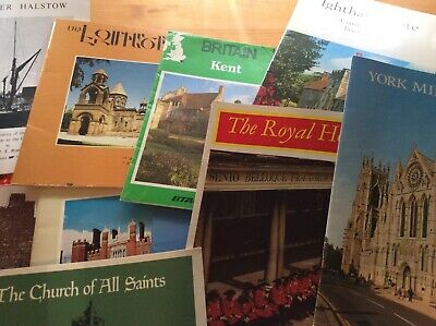 British sightseeing tour booklets - Set of 12