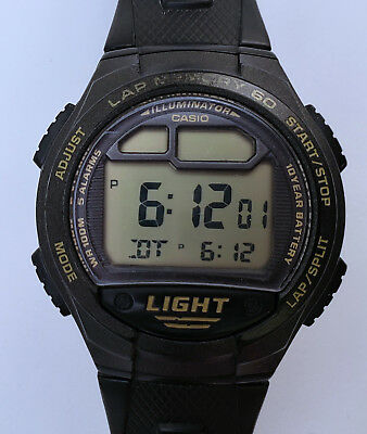 Men's Casio Digital Sports Watch 41mm Black LCD 10 Year Battery Original Strap