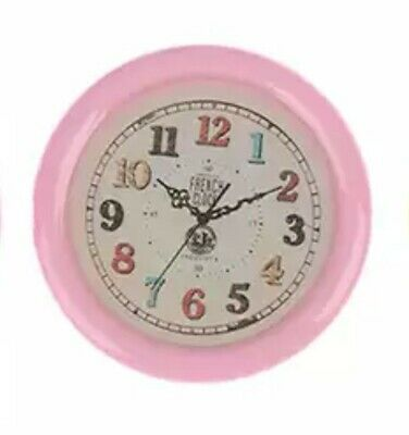 Miniature dolls house accessories 1:12th miniature scale Pink Wall Clock
