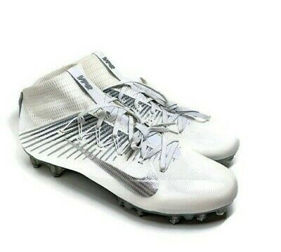 9c1fe618354 Nike Vapor Untouchable 2 Men s Football Cleats White Silver 824470-100 Sz  15 NEW