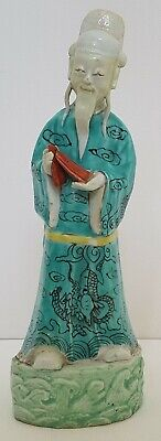 ANTIQUE CHINESE 18th CENTURY PORCELAIN QIANLONG FIGURE OF AN IMMORTAL
