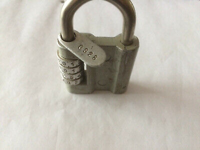 Soviet Russian Vintage USSR Small Rare Padlock Lock with 4 Code Combination