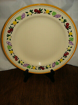 """Franciscan Dinner Plate Small Fruit Pattern 24862 10.5"""""""